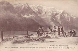 CPA - CHAMONIX : Terrasse De La Flégère Et Le Mont-Blanc - Chamonix-Mont-Blanc