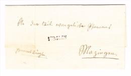 Heimat TG LANGENRICKENBACH Stabstempel Auf Brief 1872  Nach Bürglen - 1862-1881 Sitzende Helvetia (gezähnt)