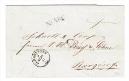 "Heimat TG Romanshorn 3.9.1857 Fingerhutstempel Brief Nach Burgdorf Vermerk "" N:Abg."" - Lettres & Documents"
