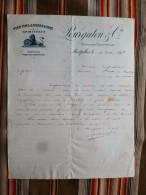 34 MONTPELLIER Pourgatou  VINS FINS & ORDINAIRES SPIRITUEUX  1892 - Factures
