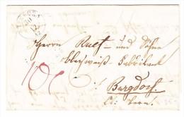 Heimat TG Steckborn 30.12 Vorphila Brief Nach Burgdorf Mit AK-Stempel 1.1.1843 - Svizzera
