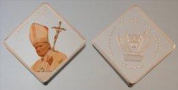 Congo RDC 10 Francs 2007 JP2 Square Argent Pape Jean-Paul II - Congo (République Démocratique 1998)