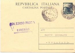 REPUBBLICA ITALIANA - CARTOLINA POSTALE -  LIRE 15 - 1950 - 6. 1946-.. Repubblica