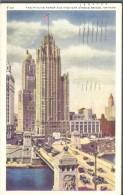 ! - Etat-Unis - Chicago - The Tribune Tower And Michigan Avenue Bridge - Chicago