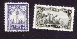 French Mandate, Scott #173-174, Mint No Gum/Hinged, Ancient Ruins, Issued 1925 - Syrie (1919-1945)