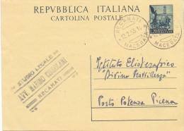 REPUBBLICA ITALIANA - CARTOLINA POSTALE -  LIRE 20 - 1953 - 6. 1946-.. Repubblica