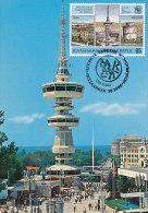 D22293 CARTE MAXIMUM CARD 1985 GREECE - NATIONAL FAIR TOWER THESSALONIKI CP ORIGINAL - Architecture