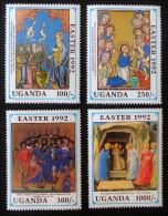 PAQUES 1992 - NEUFS ** - YT 888/91 - MI 1074/77 - Uganda (1962-...)