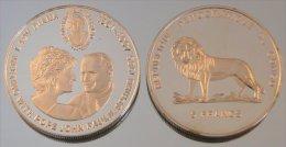 Congo RDC 5 Francs 2000 Diana Argent Pape Jean-Paul II - Congo (République Démocratique 1998)