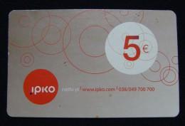KOSOVO 5 EURO PREPAID CARD IPKO 2013, GOOD CONDITION. - Kosovo