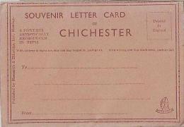 Chichester      335        6 Views.Souvenir Letter Card - Chichester