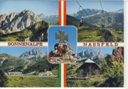"NASSFELD - Mehrbildkarte M. Alpenhof ""Ramsbacher"", Restaurant Gartnerkofelbahn - Austria"