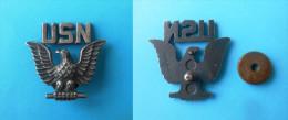 US NAVY JRM - OFFICIERS CAP HAT BADGE * USN Eagle Wings Insignia * Marine Kriegsmarine Marina Militare - Navy