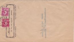 1632# SEMEUSE BANDE IMPRIME Obl AMIENS SOMME 1938 GONDERANGE LUXEMBOURG - Marcophilie (Lettres)