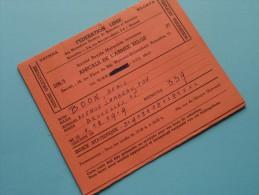 AMICALE De L´Armée Belge / Anno 1961/62/63/64 ( Boon Denis / Zie Foto´s Voor Details) ! - Documenten