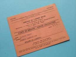 AMICALE De L´Armée Belge / Anno 1952/53/54 ( Boon Denis / Zie Foto´s Voor Details) ! - Documenten