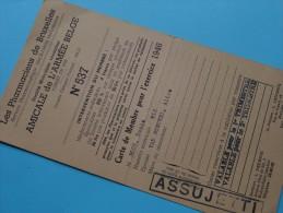 AMICALE De L´Armée Belge Carte De Membre N° 537 / Anno 1946 ( Boon Denis / Zie Foto´s Voor Details) ! - Documents