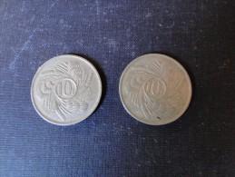 Burundi   2 Pièce De 10 Fr 1968 - Burundi