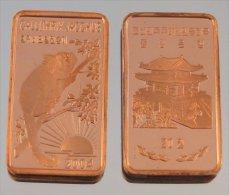 Corée Du Nord 20 Won 2004 Monkey T2 Triangle-Carré-Rectangle Animal Sauvage - Corée Du Nord