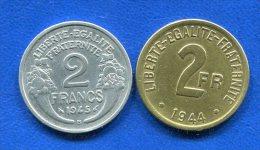 2  Fr  1944 +  1945 B - France