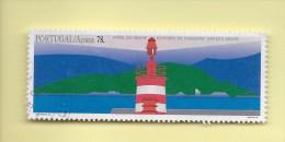 TIMBRES - STAMPS - PORTUGAL - 1996 - PHARES DES AÇORES - PHARE DE MOLHE - ÎLE S. MIGUEL - TIMBRE OBLITÉRÉ - Gebraucht