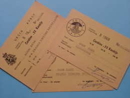 U.R.S.T.B. - K.V.B.S.V. Licence / Vergunning Carabine .22 Karabijn / Anno 1967/68 ( Zie Foto´s Voor Details) ! - Organisations