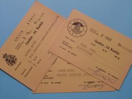 U.R.S.T.B. - K.V.B.S.V. Licence / Vergunning Carabine .22 Karabijn / Anno 1967/68 ( Zie Foto´s Voor Details) ! - Organizations