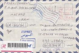 Iran  2010 - Lettera. X L´Italia Con Affrancatura Meccanica Rossa Racc. - Iran