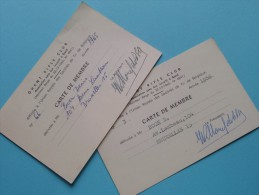 U.R.S.T.B. - K.V.B.S.V. Licence / Vergunning / Lidkaarten Etc... LOT / Anno 1965 Etc.... ( Zie Foto´s Details) ! - Organizations