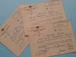 U.R.S.T.B. - K.V.B.S.V. Licence / Vergunning / Lidkaarten Etc... LOT / Anno 1964/65/66 Etc.... ( Zie Foto´s Details) ! - Organizations