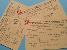 U.R.S.T.B. - K.V.B.S.V. Licence / Vergunning / Lidkaarten Etc... LOT / Anno 1973/74/75 Etc.... ( Zie Foto´s Details) ! - Organizations