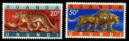 Ruanda-Urundi Scott 149-50  (Animaux) [**] - 1962-69: Mint/hinged