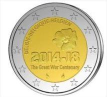 Belgie 2014  2 Euro Commemo  Wereldoorlog 14-18     UNC Uit De Rol  UNC Du Rouleaux - Belgium