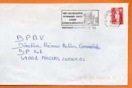 49  MONTFAUCON  SA MAISON DE CONVALESCENCE  11 / 5 / 1993 Lettre Entière110X220  N° U 605 - Marcophilie (Lettres)