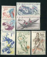TCHECOSLOVAQUIE ( POSTE ) : Y&T N°  1125/1131  TIMBRES  NEUFS  SANS  TRACE  DE  CHARNIERE , A  VOIR . - Czechoslovakia