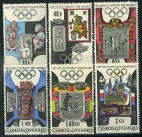 TCHECOSLOVAQUIE ( POSTE ) : Y&T N°  1631/1636  TIMBRES  NEUFS  SANS  TRACE  DE  CHARNIERE , A  VOIR . - Tschechoslowakei/CSSR