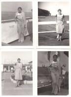 4 Photos D'une Femme En Vacances Dans Les Années 70 - Vintage Time - Mode 70's - - Pin-up
