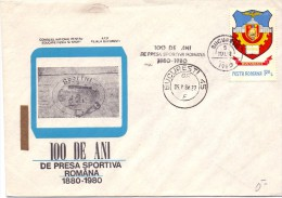 ROMANIA  BUCAREST 1980  PRESA SPORTIVA   (M160073) - Francobolli