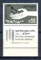 Israel - 1963, Michel/Philex No. : 282,  - MNH - *** - Full Tab - Neufs (avec Tabs)