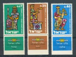 Israel - 1960, Michel/Philex No. : 217/218/219, - MNH - *** - Full Tab - Israel