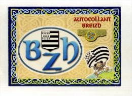 - FRANCE BZH  . CARTE AUTOCOLLANT BREIZH . - Cartes Postales