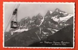 PCG-29 Téléférique Champéry-Planachaux Et Dents Du Midi. Visa Censure 1939.Perrochet-Phototypie 9777,Trou épingle. - VS Valais