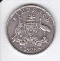 MONEDA DE PLATA DE AUSTRALIA DE 6 PENCE DEL AÑO 1926  (COIN) SILVER,ARGENT - Moneda Pre-decimale (1910-1965)