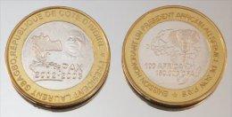Côte D'Ivoire 150000 CFA 2003 Gbagbo Monnaie Bimétallique Précieuse Président - Côte-d'Ivoire