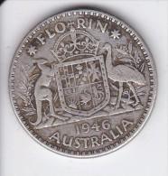 MONEDA DE PLATA DE AUSTRALIA DE 1 FLORIN DEL AÑO 1946 (COIN) SILVER,ARGENT - Moneda Pre-decimale (1910-1965)