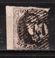 6  Médaillon Non Dentelé - Au Filet - BORD DE FEUILLE - Oblit. P47 GEMBLOUX - LOOK - V023!!!! - 1851-1857 Medallions (6/8)