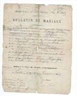 Bulletin De Mariage /Pierre FOLLIN-Sidonie GUERIN/Fontaine Le Dun /Seine Inférieure /1884      AEC17 - Non Classés