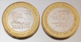 Côte D'Ivoire 6000 CFA 2003 Gbagbo VIP Monnaie Bimétallique Précieuse Président - Côte-d'Ivoire
