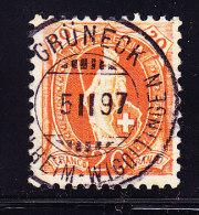Heimat TG Grüneck B/Wigolt. Retouche Auf 20Rp Stehende Helvetia #66A - 1882-1906 Wappen, Stehende Helvetia & UPU