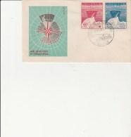 LETTRE FDC AFFRANCHIE N° 215 -  216 - ANTARTIQUE CHILIEN   ANNEE 1947 - Timbres